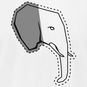 Elephant head sticker - Men's T-Shirt by American Apparel