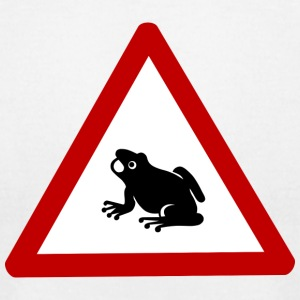 wipp Caution Frog Sign 2400px - Men's T-Shirt by American Apparel