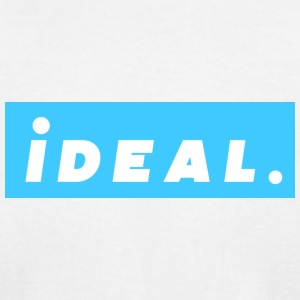 rare ideal blue logo - Men's T-Shirt by American Apparel