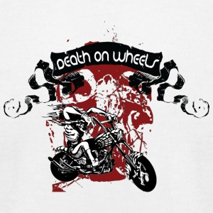 death_on_wheels_black - Men's T-Shirt by American Apparel