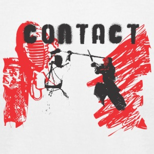 Japan samurai contact fight - Men's T-Shirt by American Apparel