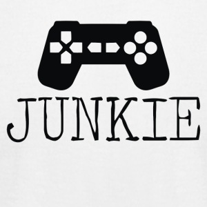 Junkie Gamer - Men's T-Shirt by American Apparel