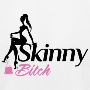 Skinny Bitch Black Pink - Men's T-Shirt by American Apparel