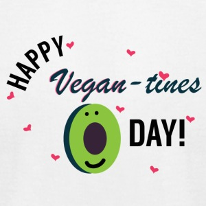 Vegan-tines Day! - Men's T-Shirt by American Apparel