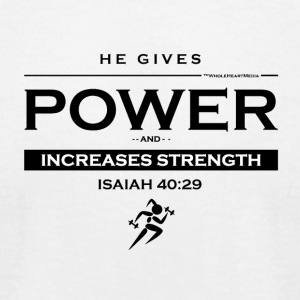 He Gives Power - Christian Fitness Apparel - Men's T-Shirt by American Apparel