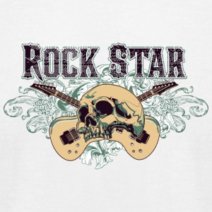 rock_star_guitar - Men's T-Shirt by American Apparel