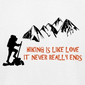 Hiking Is Like Love - Men's T-Shirt by American Apparel