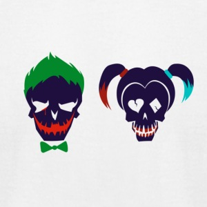 Harley quinn and Joker from suicide squad - Men's T-Shirt by American Apparel