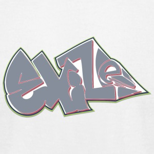exize_graffiti_green_gray - Men's T-Shirt by American Apparel