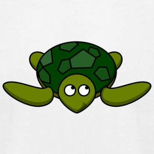 Funny Turtle Comic - Men's T-Shirt by American Apparel