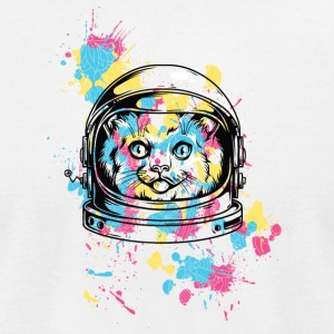 colorful_astranout_cat - Men's T-Shirt by American Apparel