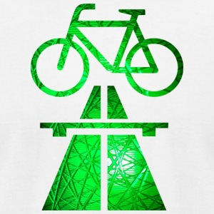 Cycle tracks, More bikeways ! - Men's T-Shirt by American Apparel