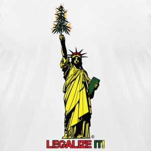 Cannabis of Liberty - Cannabis T-shirts, 420 wear - Men's T-Shirt by American Apparel