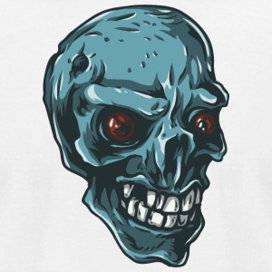 blue_skull - Men's T-Shirt by American Apparel