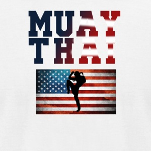 Muay_Thai_USA_3 - Men's T-Shirt by American Apparel