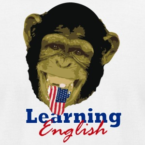 Learning English Chimpa - Men's T-Shirt by American Apparel