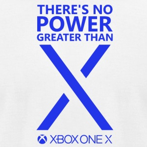 There s No Power Greater Than X Blue - Men's T-Shirt by American Apparel