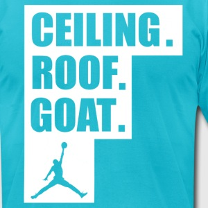 ceiling roof goat shirt - Men's T-Shirt by American Apparel