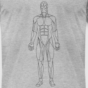 Geometric human - Men's T-Shirt by American Apparel
