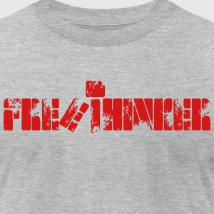 NEW FREE THINKER Tee - Men's T-Shirt by American Apparel