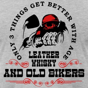 Old Bikers Get Better With Age - Men's T-Shirt by American Apparel