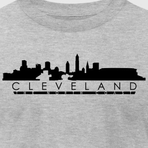 Cleveland The North Shore with Stadium - Men's T-Shirt by American Apparel