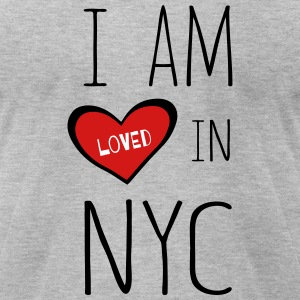 I am loved in NYC - Men's T-Shirt by American Apparel