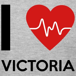 I Love Victoria - Men's T-Shirt by American Apparel