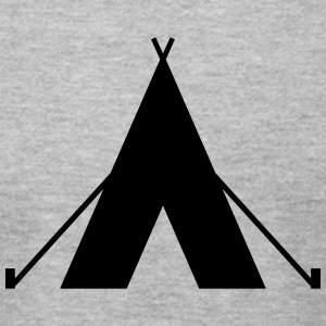 tent - camp - camping fire - Men's T-Shirt by American Apparel