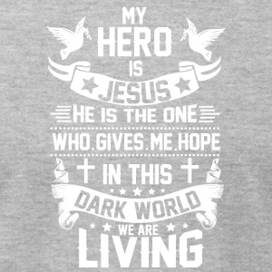 ***JESUS IS MY HERO*** - Men's T-Shirt by American Apparel