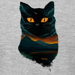 black cat T Shirt - Men's T-Shirt by American Apparel