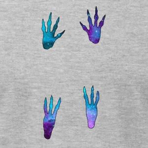Galactic Guinea Pig Paw Prints - Men's T-Shirt by American Apparel