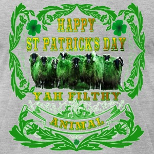 Happy St Patrick's Day Yah-Filthy-Animal - Men's T-Shirt by American Apparel