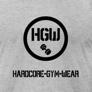 HARDCORE GYM WEAR Logo - Men's T-Shirt by American Apparel