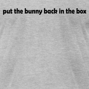 Bunny in the Box - Men's T-Shirt by American Apparel