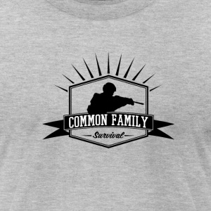 Common Family Survival YouTube Channel Logo - Men's T-Shirt by American Apparel