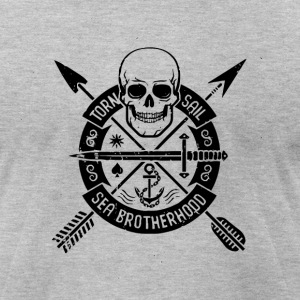 torn sail sea brotherhood - Men's T-Shirt by American Apparel