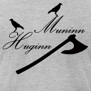 Huginn & Muninn - Men's T-Shirt by American Apparel