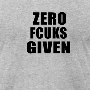 ZEROFUCKSGIVENBLACK - Men's T-Shirt by American Apparel