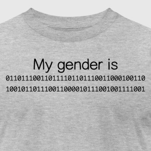My Gender Is (nonbinary) In Binary - Men's T-Shirt by American Apparel