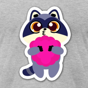 raccoon funny - Men's T-Shirt by American Apparel