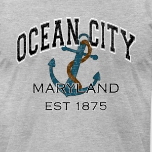 Ocean City Maryland Anchor Design - Men's T-Shirt by American Apparel