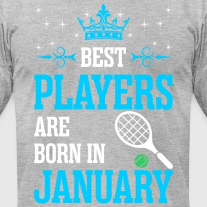 Best Players Are Born In January - Men's T-Shirt by American Apparel