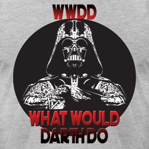 What Would Darth Do? Darth Vader Tshirt - Men's T-Shirt by American Apparel