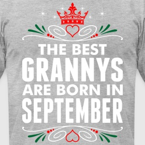 The Best Grannys Are Born In September - Men's T-Shirt by American Apparel