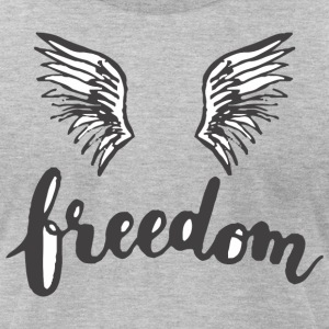 Freedom Wing - Men's T-Shirt by American Apparel