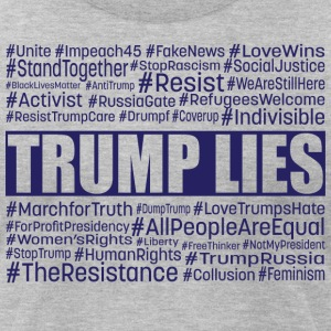 Trump Lies Resistance - Men's T-Shirt by American Apparel