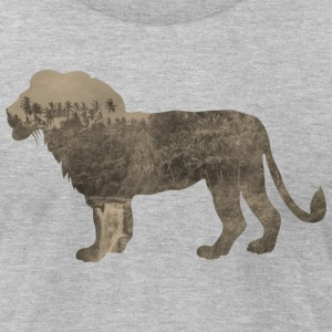 Silhouette Jungle Series Lion - Men's T-Shirt by American Apparel