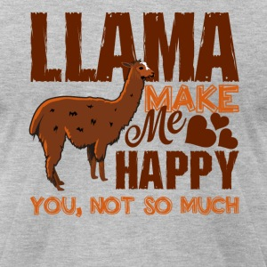 Llamas Make Me Happy Shirt - Men's T-Shirt by American Apparel