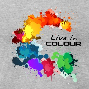 Live In Colour - Paint Splashes Colour Tee - Men's T-Shirt by American Apparel